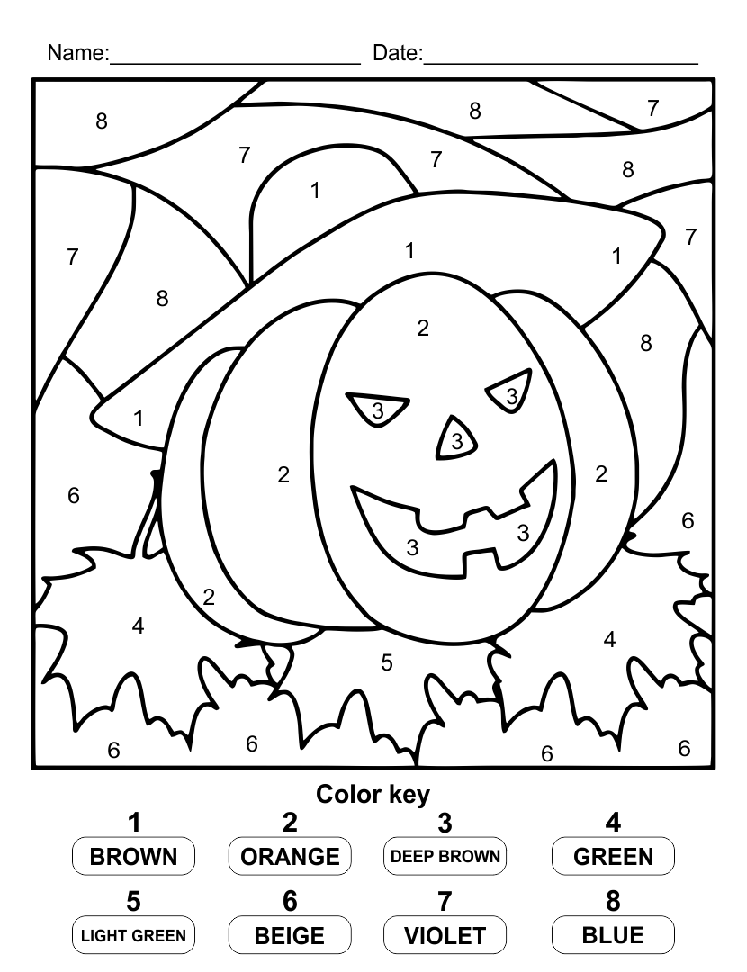 halloween letters coloring pages - photo#14
