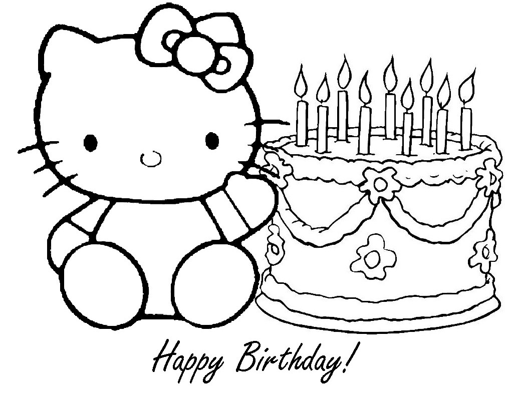 5 Images of Free Printable Happy Birthday Mom Coloring Pages