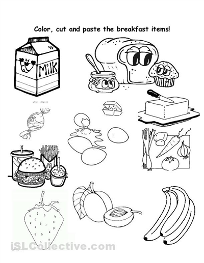 math worksheet : healthy food worksheets for preschoolers  healthy vs unhealthy  : Color Cut And Paste Worksheets For Kindergarten
