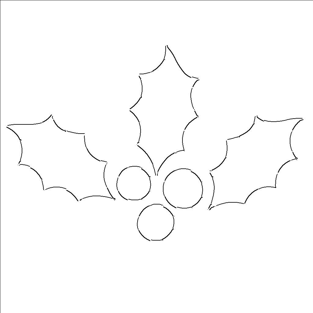 7 Images of Free Printable Holly Leaf Template