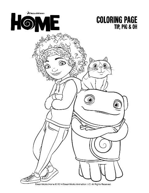 oh from the movie home coloring pages - photo #6