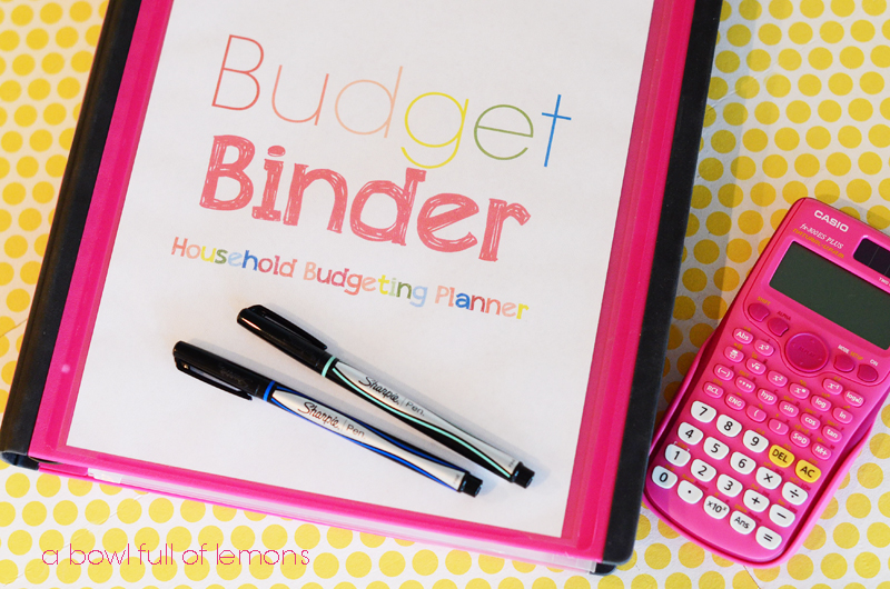 Household Budget Binder