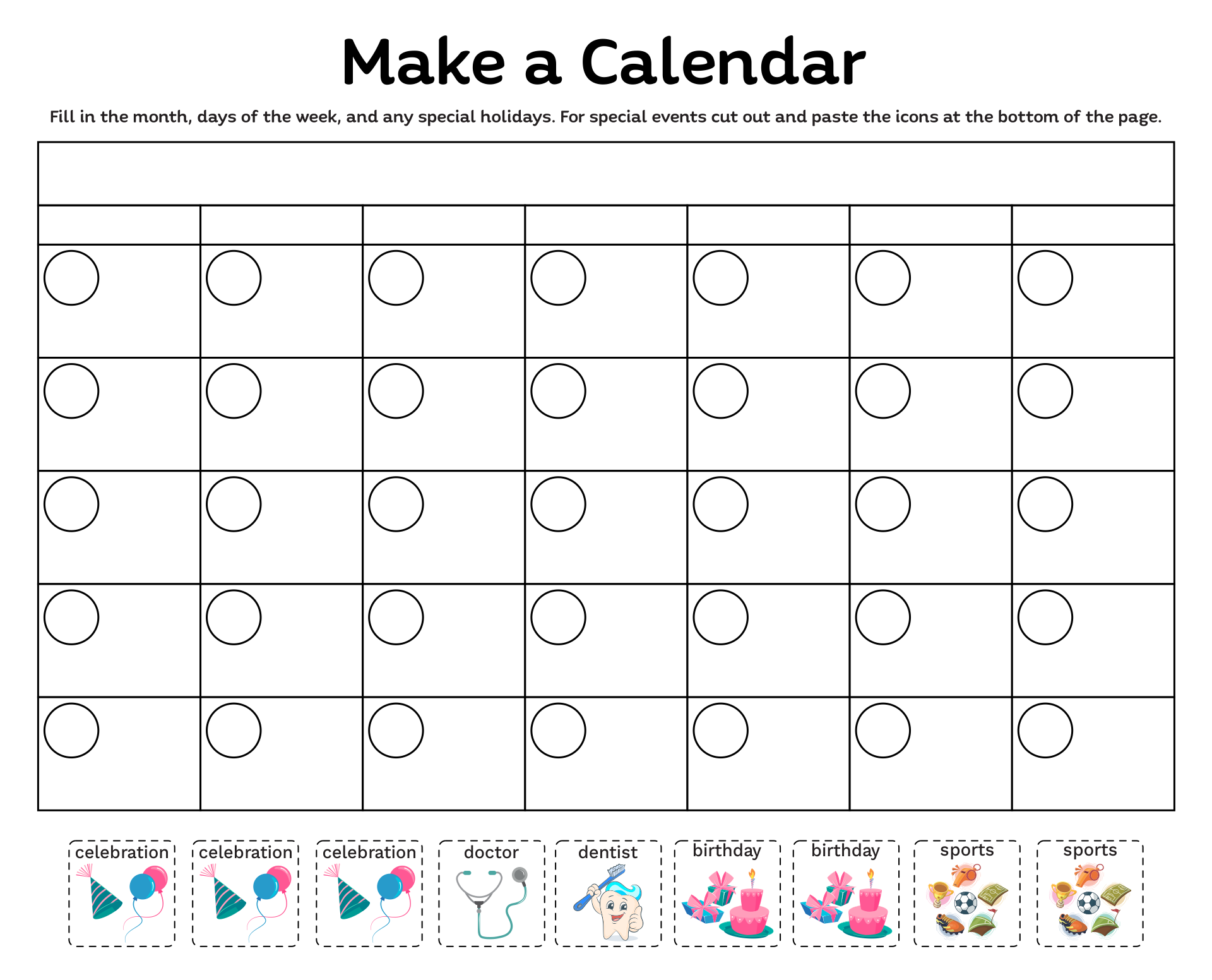 4 Images of Kindergarten Calendar Math Printables