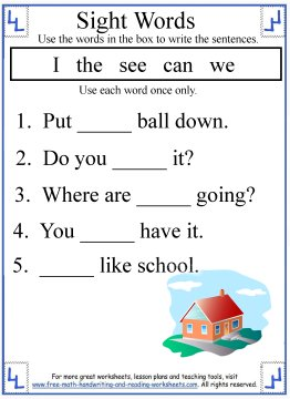 math worksheet : 6 best images of free writing worksheets printable kindergarten  : Kindergarten Writing Sentences Worksheets