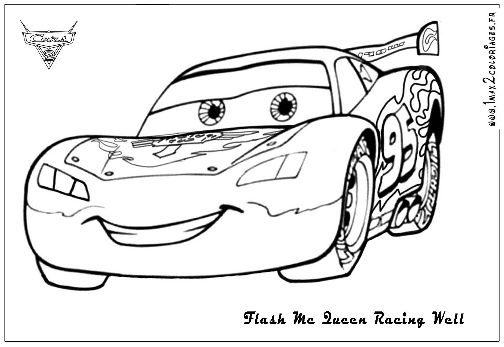 6 Images of Lightning McQueen Coloring Pages Printable