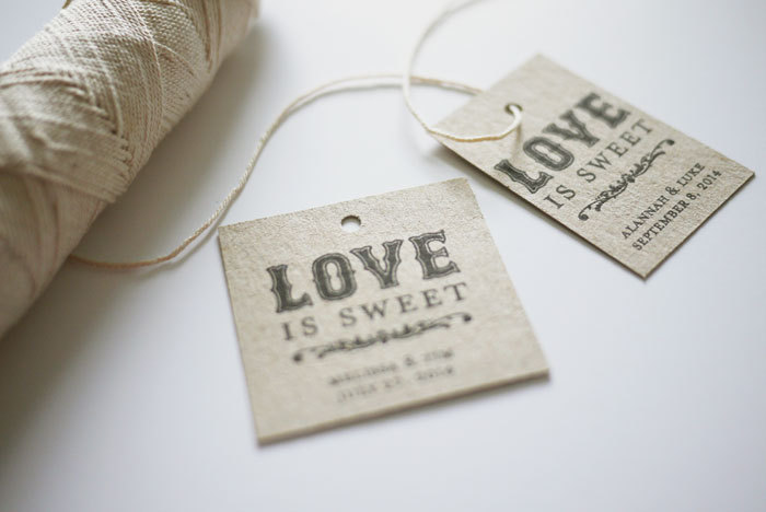 4 Images of Love Is Sweet Wedding Favor Tags Printable