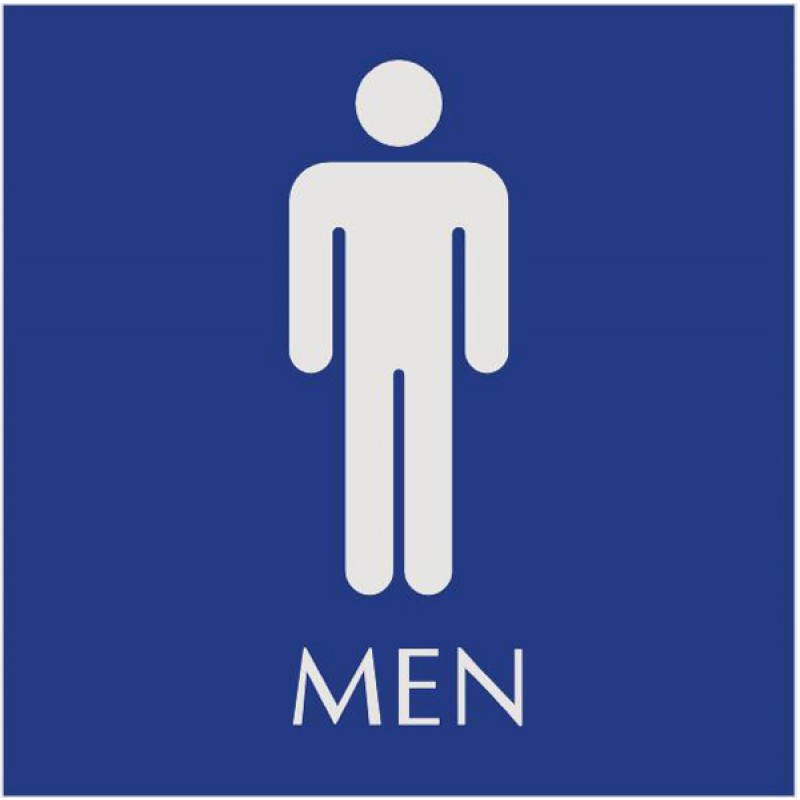 Men Only Restroom Signs