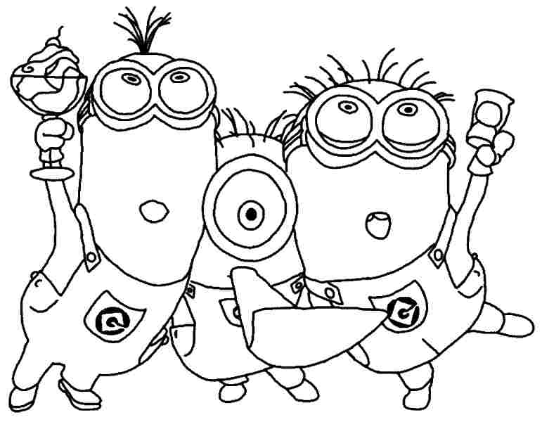 6 Images of Minions Coloring Printables