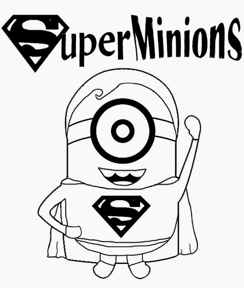 Superheroes coloring pages for kids - Minion Superhero Coloring Pages