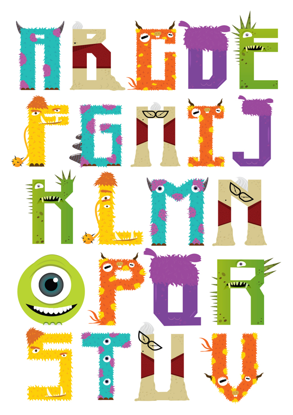 9 Images of Monsters Inc Printable Letters