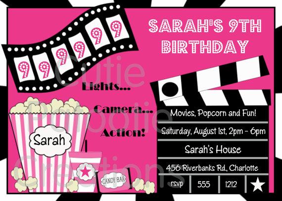 Free Printable Ticket Invitations Invitation Movie Ticket – Movie Ticket Invitation Template Free Printable