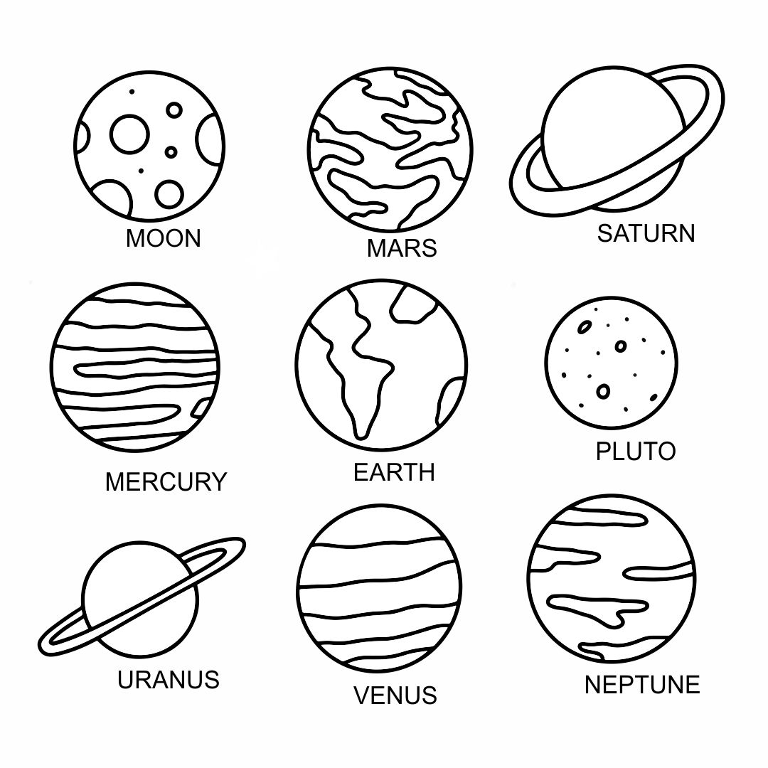 Planets Solar System Cut Out Printables