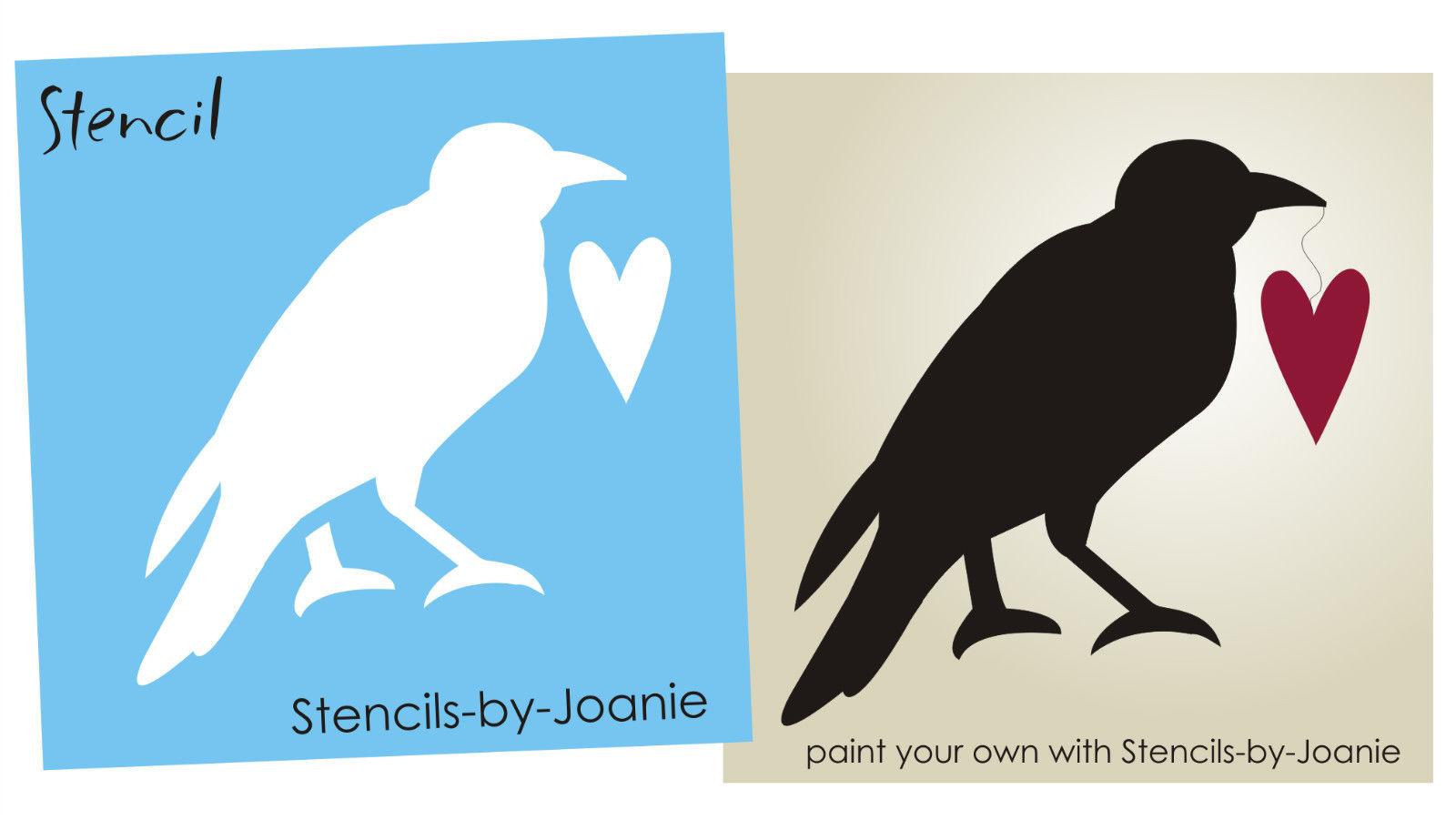 6 Images of Printable Primitive Crow Stencils