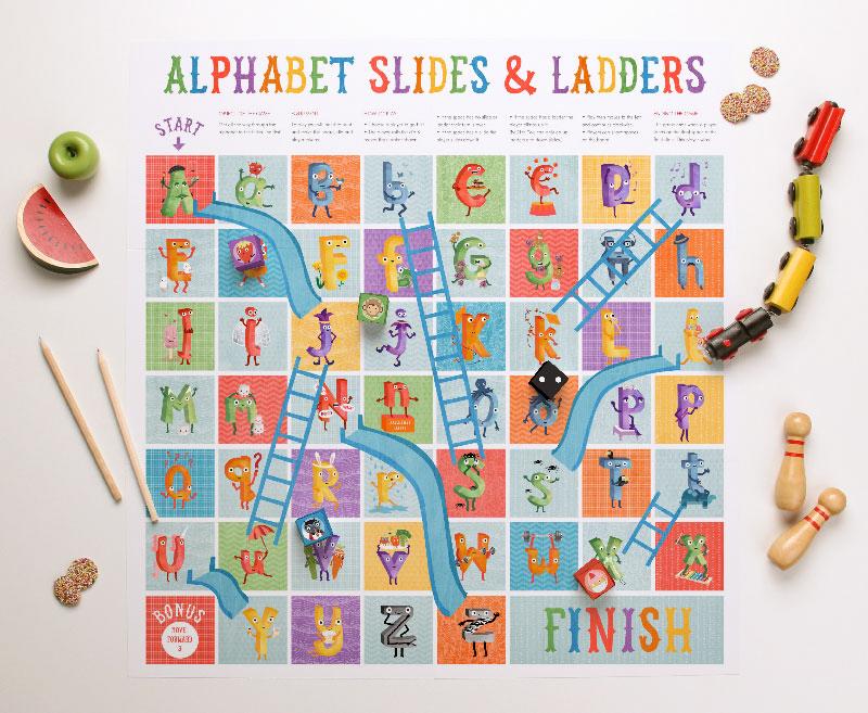 Printable Alphabet Board Game