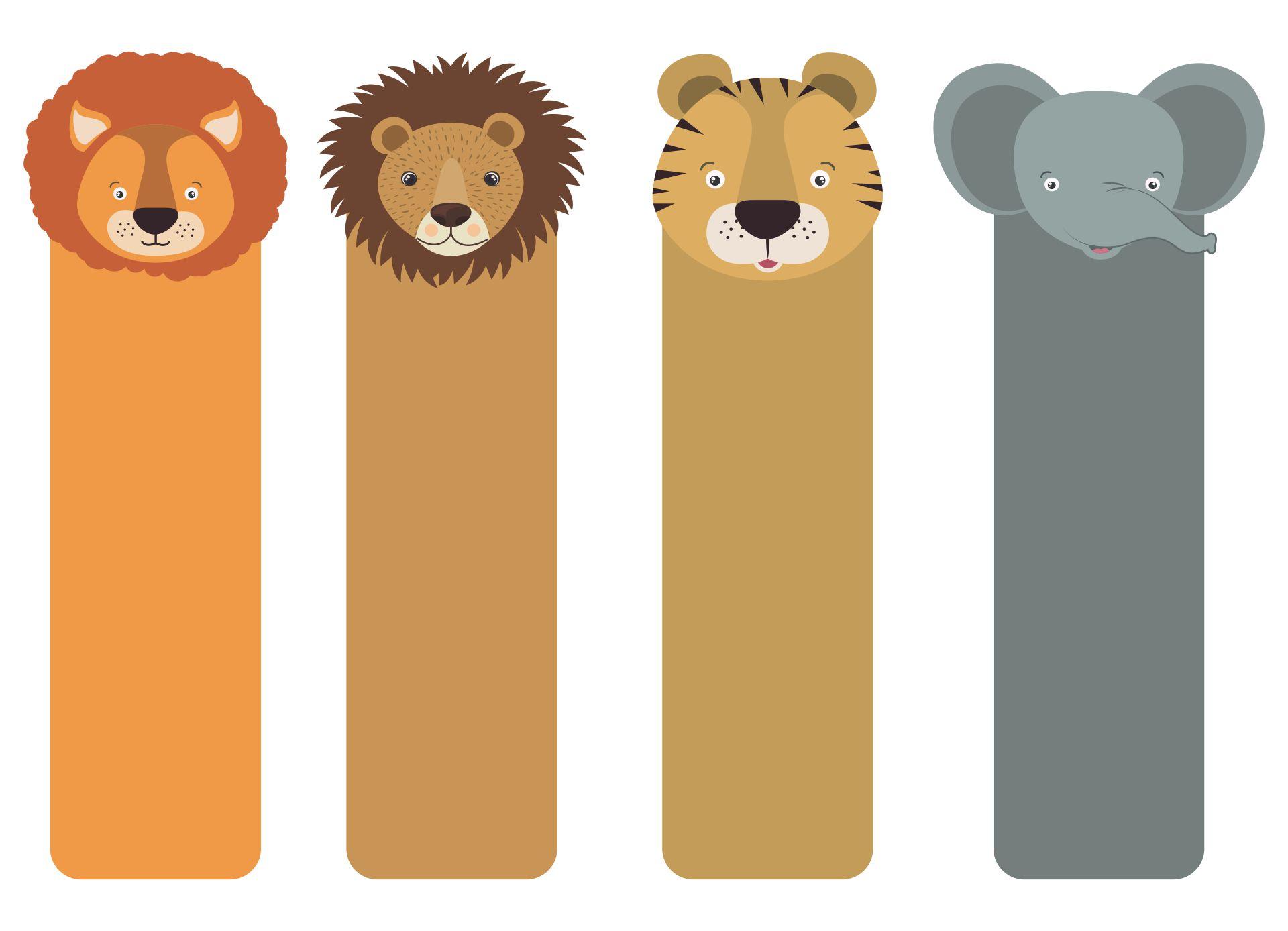 Printable Animal Bookmarks