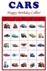 5 Images of Cars 2 Bingo Printables