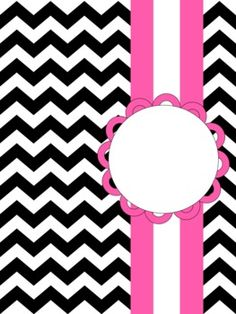 6 Images of Free Printable Chevron Binder Covers