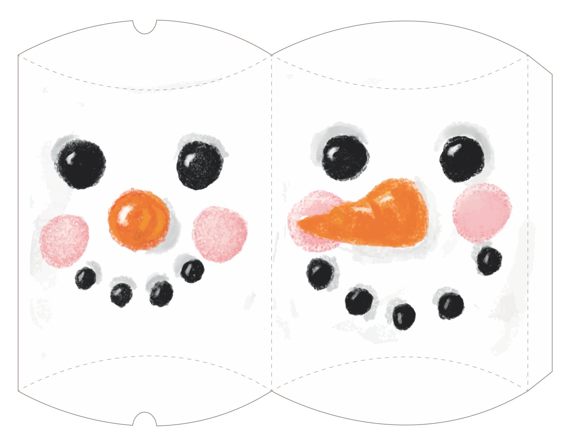 Printable Christmas Gift Box Template