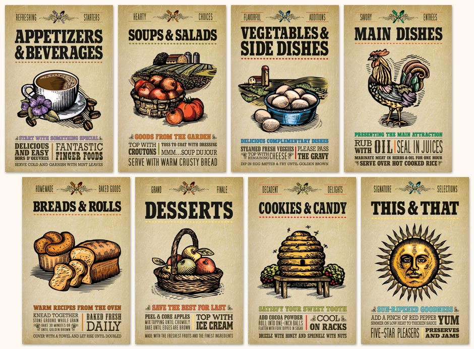 Printable Cookbook Divider Pages