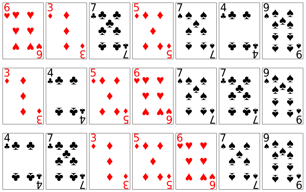 This is an image of Comprehensive Playing Cards Printable