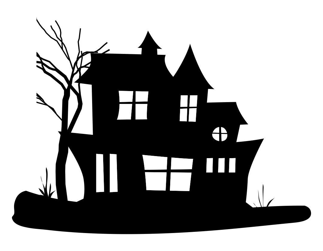 Printable Halloween Silhouettes House
