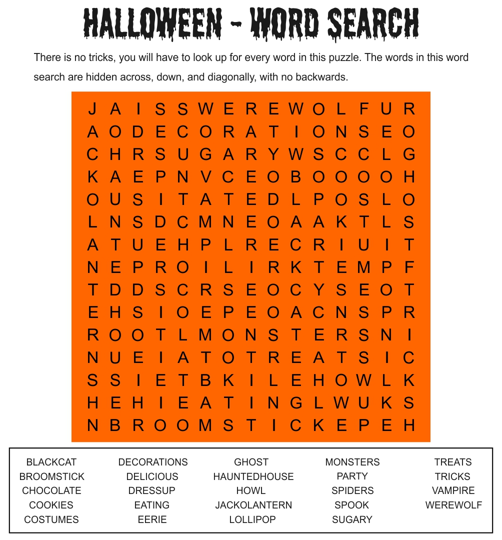 Printables. Halloween Worksheets For Middle School. Jigglist ...