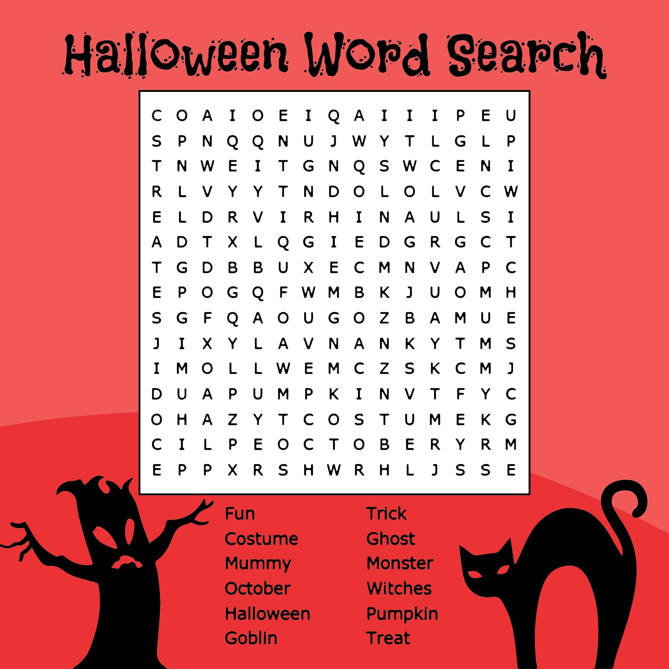 Printable Halloween Word Search