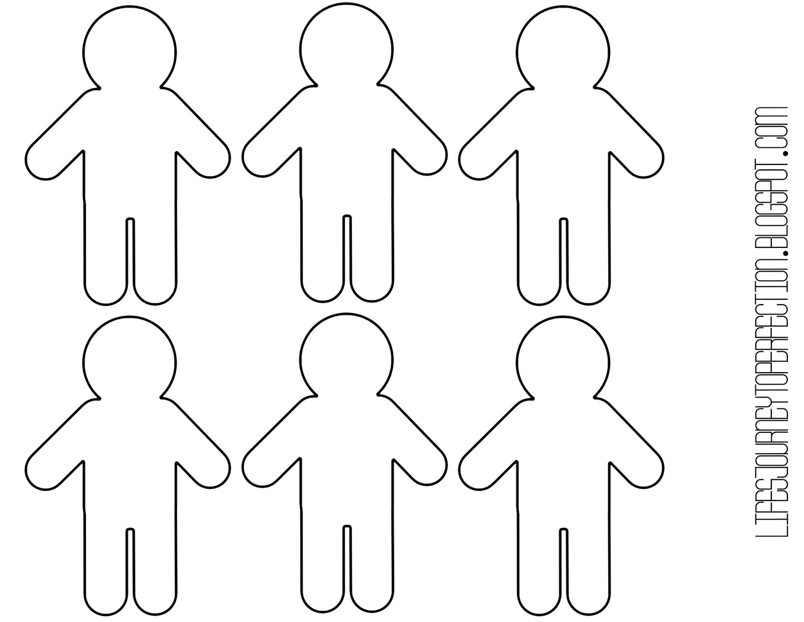 Printable Paper People Cutouts