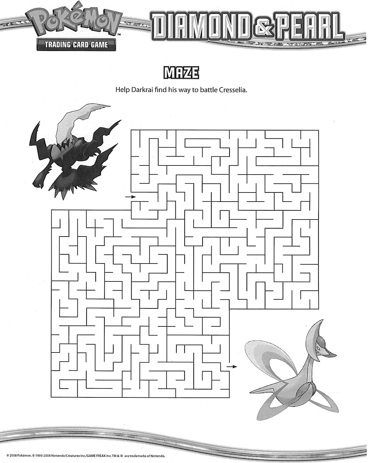 4 Images of Pokemon Maze Printable
