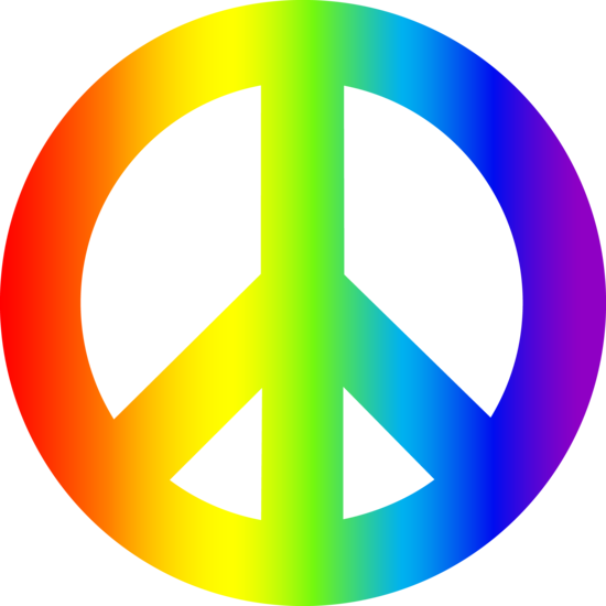 8 Images of Rainbow With Peace Symbols Printable