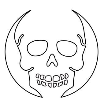 7 best images of printable skull patterns skull pumpkin for Free skull pumpkin carving patterns