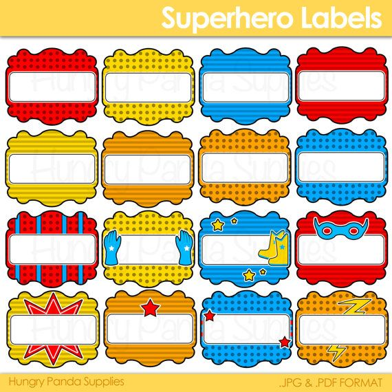 8 Best Images Of Super Heroes Printable Party Labels