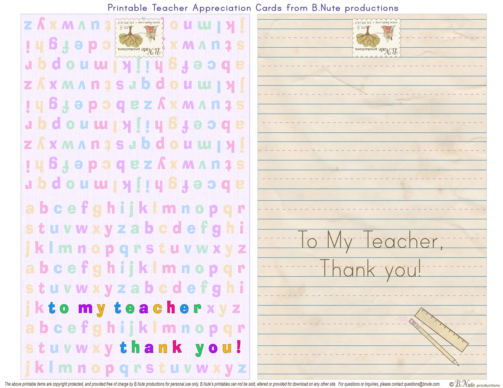 5 Images of Free Printable Teacher Birthday Cards