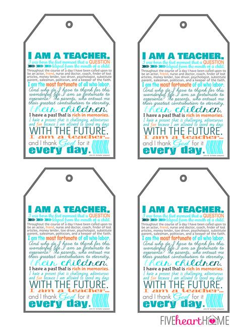 Teacher Gift Tag Printable