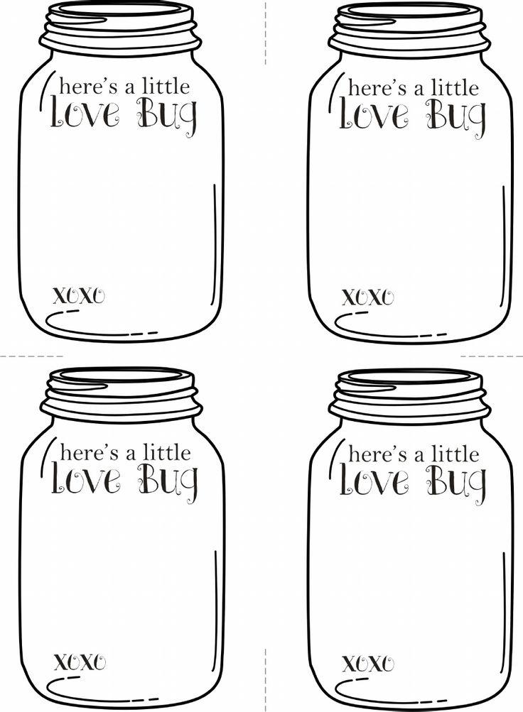 6 Images of Love Bug Printable Valentine Cards