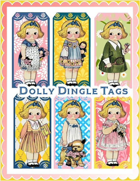 9 Images of Dolly Dingle Paper Doll Printable