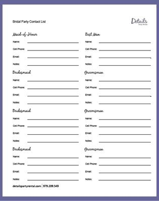 wedding vendor checklist template - 6 best images of wedding party checklist printable
