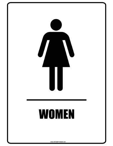 Women Bathroom Signs Printable