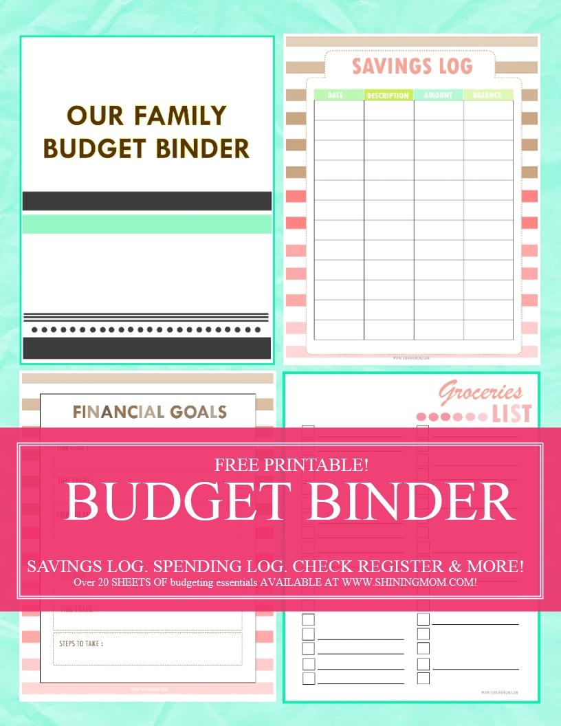 6 Images of 2016 Budget Binder Printables