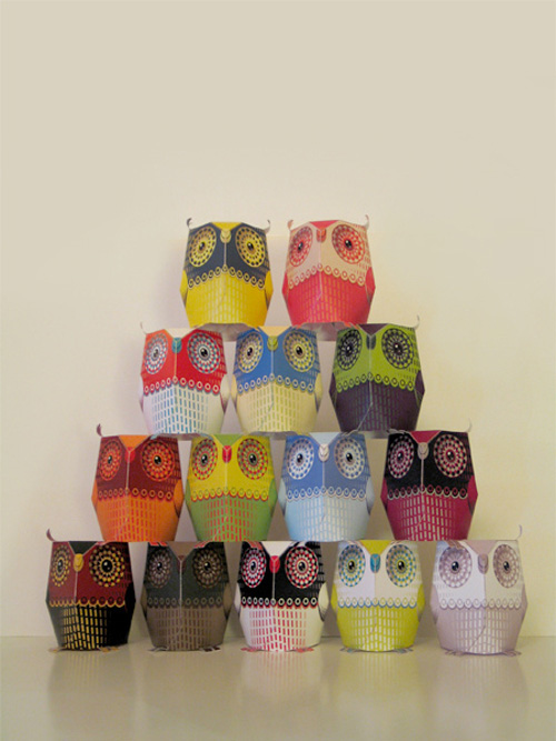 4 Images of 3D Owl Template Printable