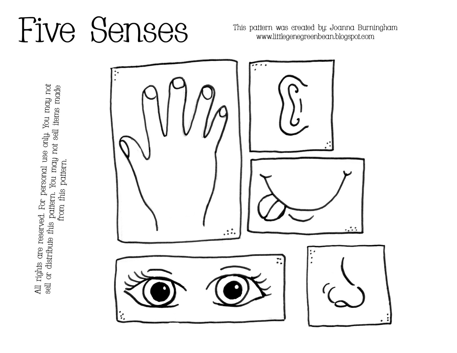 7 Best Images Of 5 Senses Preschool Printables Five 5 Senses Coloring Pages Printable