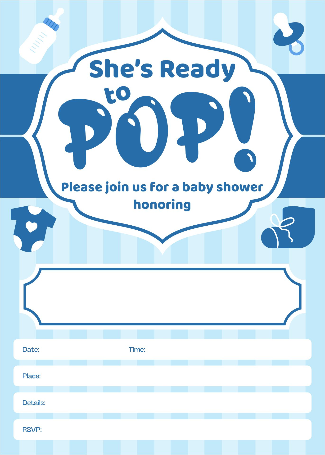 About to Pop Baby Shower Invitations