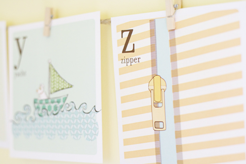 5 Images of Printable Alphabet Wall Art