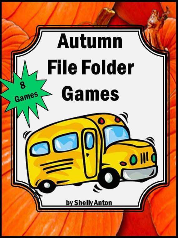 7 Images of Autumn Printable Math Games