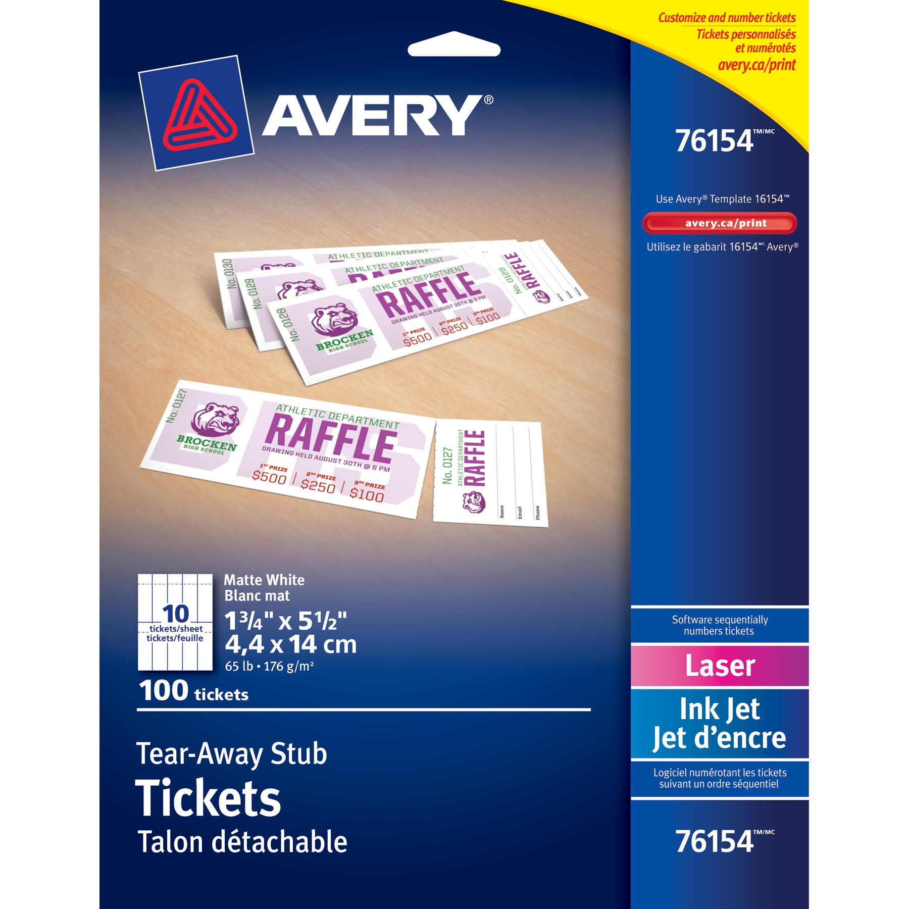 Amazing image intended for avery printable tickets