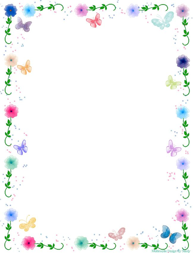 5 Images of Free Printable Flower Borders Clip Art
