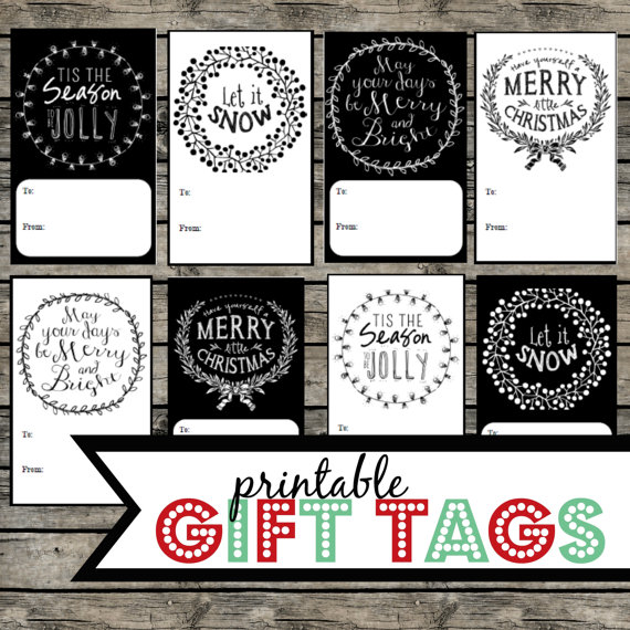 8 Images of Elegant Holiday Gift Tags Printable