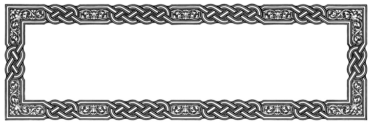 7 Images of Celtic Knot Border Printables