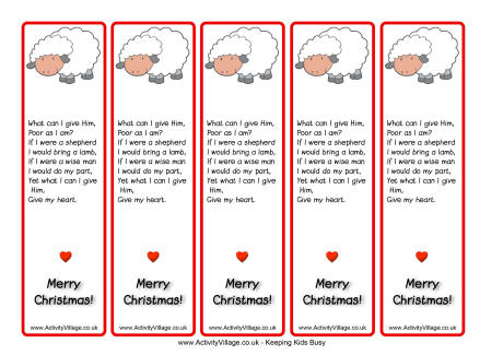 7 Images of Christian Christmas Free Printable Bookmarks
