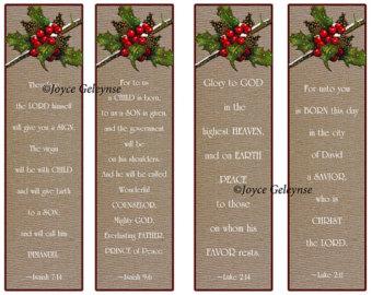 Christian Christmas Bookmarks Printable